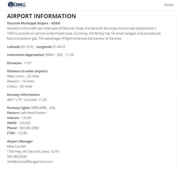 Highlight Airport Information